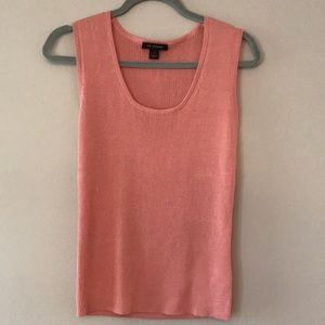 St. John blush pink sweater tank